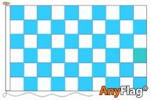 SKY BLUE AND WHITE CHECK  ANYFLAG RANGE - VARIOUS SIZES